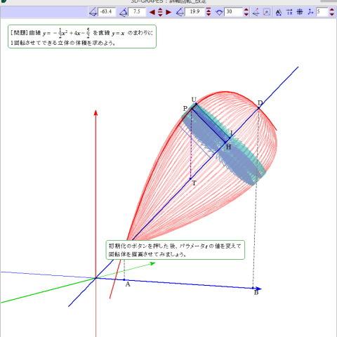 斜軸回転の回転体の体積